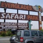 Everglades Safari Park Sign Florida
