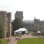 Castle courtyard at Warwick castle england travelammo