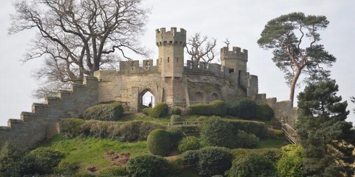 Warwick castle mound Merlin group england
