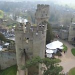 from the top of Warwick castle